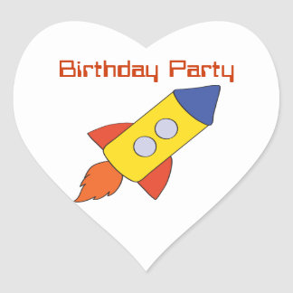 Rocket Ship Birthday Party Stickers