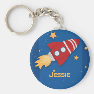 Rocket Ship Keychain