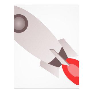 Rocket Ship Launching Letterhead