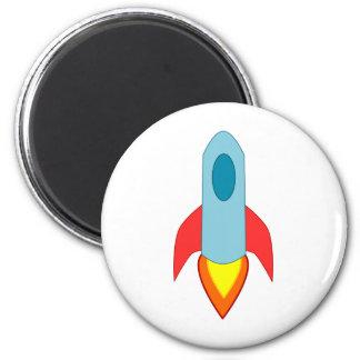 Rocket Ship Refrigerator Magnets