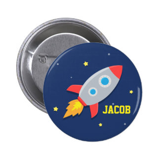 Rocket Ship, Outer Space, For Boys 2 Inch Round Button