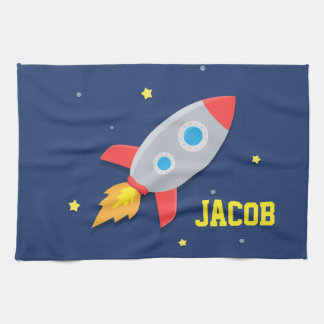 Rocket Ship, Outer Space, For Boys Towel