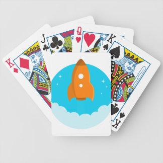 Rocket Ship Taking Off Bicycle Playing Cards