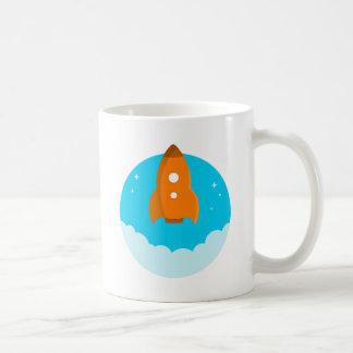 Rocket Ship Taking Off Coffee Mug