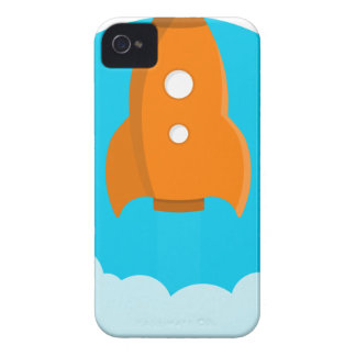 Rocket Ship Taking Off iPhone 4 Case-Mate Cases