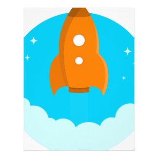 Rocket Ship Taking Off Letterhead