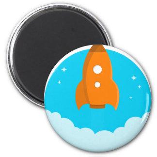 Rocket Ship Taking Off Magnet