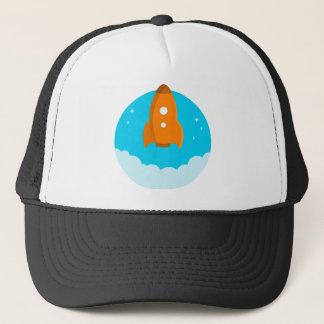 Rocket Ship Taking Off Trucker Hat