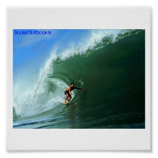 Rocket Surfboards Co. Poster
