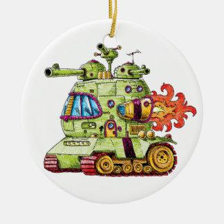 Rocket Tank Ceramic Ornament