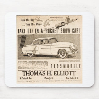 rocket to car AD Mouse Pad