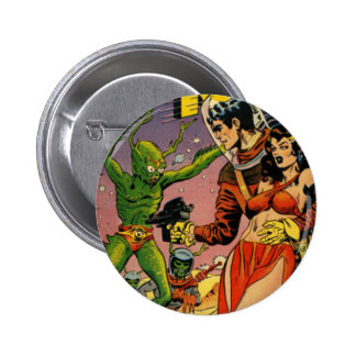Rocket to the Moon Comic 2 Inch Round Button