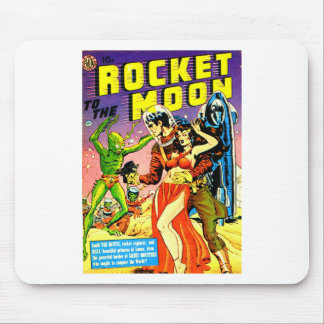 Rocket to the Moon Mouse Pad
