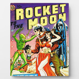 Rocket to the Moon Plaque