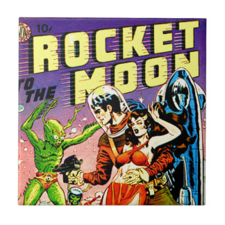 Rocket to the Moon Tile