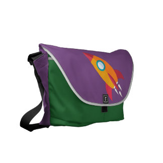 Rocket to tomorrow courier bag