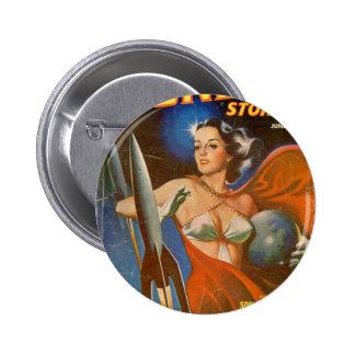 Rocket Woman 2 Inch Round Button