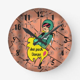 ROCKET WOMAN by Jetpackcorps Round Clock