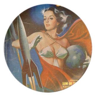 Rocket Woman Plate