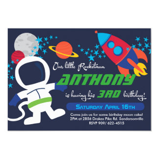 Rocketman 5x7 Birthday Invite