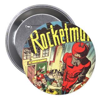 Rocketman vintage comics 3 inch round button