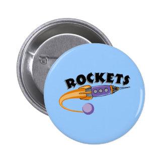 Rockets 2 Inch Round Button
