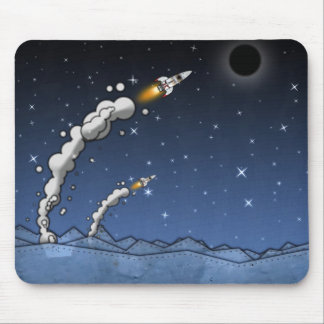 Rocket's launching mouse pad
