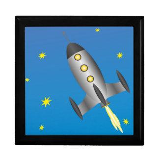 Rocketship starry sky gift box