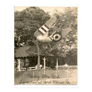 Rockey Glen Amusement Park Moosic Pa. Postcard
