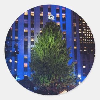 Rockfeller Center Christmas Tree NYC Stickers