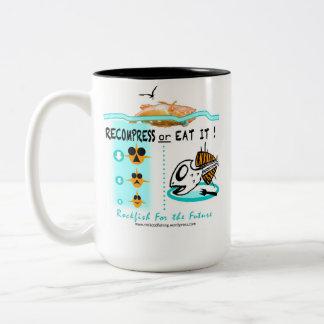 Rockfish fishing fisherman's mug cup