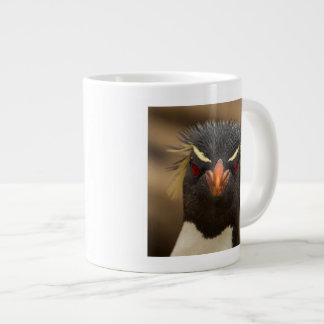 Rockhopper penguin portrait giant coffee mug