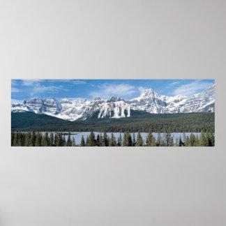 Rockies mountains poster