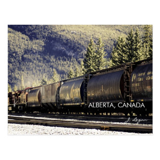 Rockies & Trains, Alberta Canada (fine art photo) Postcard