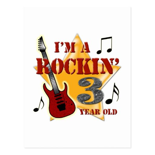 Rockin' Age 3 Postcard