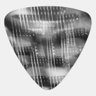 Rockin and Rollin abstract electric guitar photo Guitar Pick