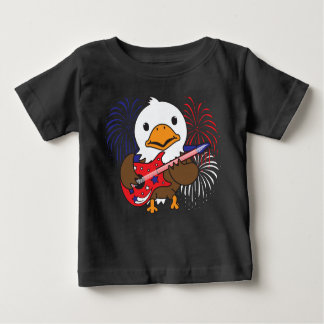 Rockin Bald Eagle Baby T-Shirt