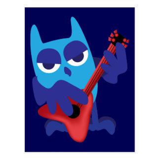 Rockin' Blue Owl Postcard