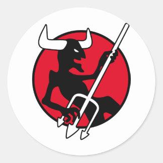 Rockin Devil Classic Round Sticker