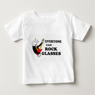 Rockin' glasses bird shirt