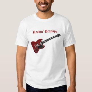 Rockin' Grandpa, red & black guitar Tees