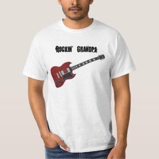 Rockin' Grandpa, red & black guitar Tshirt