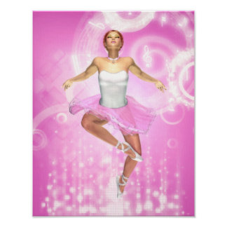 Rockin' It Ballet Style Canvas/Poster Print