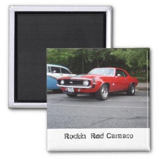 Rockin' Red Camaro magnet