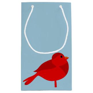 Rockin Robin Red Cardinal Cartoon Small Gift Bag