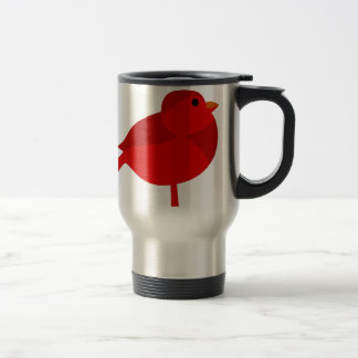 Rockin Robin Red Cardinal Cartoon Travel Mug