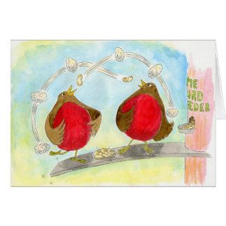 Rockin' Robins:  Christmas Greeting Card