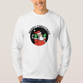Rockin' Santa Men's Longsleeve Shirt