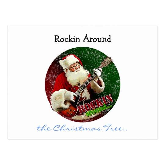 Rockin Santa Postcard