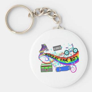Rockin The 80s Basic Round Button Keychain